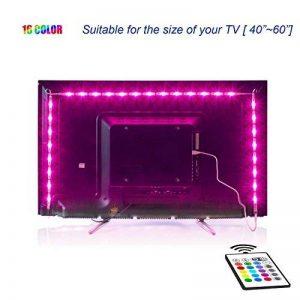 Rétro-éclairage LED TV, éclairage USB Bias 2M avec 16 Couleurs et 4 Modes Dynamiques pour Téléviseur HD 40 à 60 pouces, Moniteur PC, Bande Lumineuse Led. de la marque MY LAMP image 0 produit