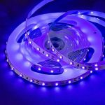 Ruban Led 12v SMD 3528 Bande Led 5m Violet 300 Leds, Ultraviolet Led Strip Light Black Light Idéal pour Interieur Chamber Bureau de la marque Omika image 1 produit