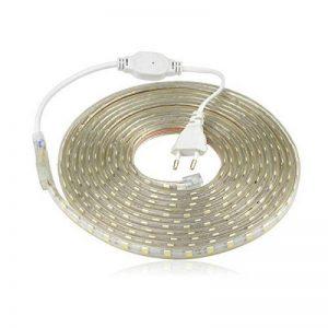 Ruban LED 220V AC 5050 IP68 étanche, High Bright Three Chips, LED Strip Light Très Lumineux Bandeau (15m) de la marque DUVERT image 0 produit
