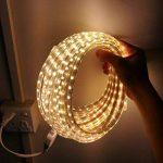 Ruban LED 220V AC 5050 IP68 étanche, High Bright Three Chips, LED Strip Light Très Lumineux Bandeau (15m) de la marque DUVERT image 2 produit