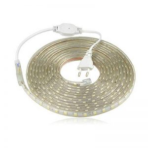Ruban LED 220V AC 5050 IP68 étanche, High Bright Three Chips, LED Strip Light Très Lumineux Bandeau (2m) de la marque DUVERT image 0 produit