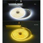 Ruban LED 220V AC 5050 IP68 étanche, High Bright Three Chips, LED Strip Light Très Lumineux Bandeau (Blanc chaud, 10m) de la marque DUVERT image 4 produit