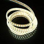 Ruban LED 220V AC 5050 IP68 étanche, High Bright Three Chips, LED Strip Light Très Lumineux Bandeau (Blanc froid, 10m) de la marque DUVERT image 1 produit