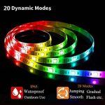 Ruban LED 4M(2x2M), SOLMORE Bande LED à Pile Étanche IP65 60 LEDs RGB Guirlande Lumineuse Mode'Éclairage Couleur Luminosité Vitesse Déco Soirée Fête Vitrine Intérieur Extérieur (2pcs 2M Ruban LED) de la marque SOLMORE image 4 produit