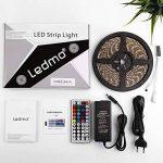 Ruban Led 5M, Led Ruban Lumineuse RGB IP65 Imperméable,Bandeau Led,5050 SMD 300 LEDs,Bande Led avec Télécommande à Infrarouge 44 Touches et Alimentation 5A 12V de la marque LEDMO image 4 produit