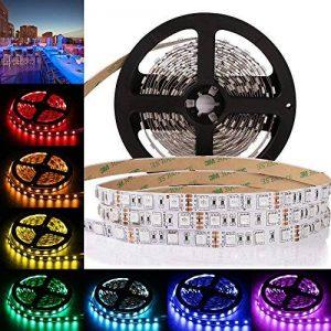 Ruban LED 5m RGB,Bandeau Led 300Leds, Bande LED Non-Imperméable Pour La lumière et la Cuisine Flexibles de Décoration Lumière de fond de TV [Classe énergétique A++] de la marque LEDMO image 0 produit