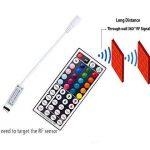 Ruban LED avec Contrôleur RF , 5M Etanche 5050SMD RGB Multicolore 150 LED Bande Flexible Lumineux Strip Light + Télécommande à infrarouge 44 touches + Alimentation 2A 12V de la marque EBajkalo image 3 produit