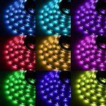 Ruban LED Bande LED Lumineuse - Ruban à LED (5m) 5050 RGB SMD Multicolore 150 LEDs 60W, avec Télécommande à Infrarouge 44 Touches et Alimentation 2A 12V de la marque Sunnest image 1 produit