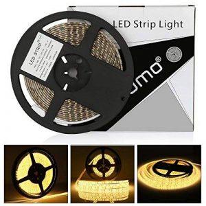 Ruban LED blanc chaud, 2835 600LED 5M 12V,2700K bande LED IP65 etanche menée par [Classe énergétique A+++] de la marque LEDMO image 0 produit