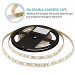 Ruban LED blanc chaud, 2835 600LED 5M 12V,2700K bande LED IP65 etanche menée par [Classe énergétique A+++] de la marque LEDMO image 4 produit