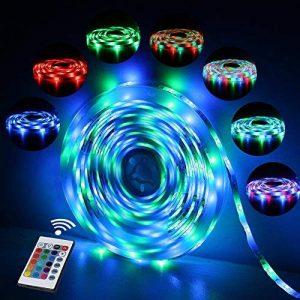 Ruban LED Etanche 5M 2835 RGB,300 LED avec Télécommande 24 touches, 2A 12V de la marque Innoo Tech image 0 produit