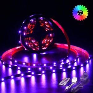 Ruban LED RGB 2M 5050 SMD 60 LEDS, TopKeep Kit de Rande LED Lumineux avec télécommande à infrarouge 44 touches et Alimentation 2A 12V de la marque TopKeep image 0 produit