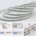 Ruban à LED RGB Multicolore, Strip Flexible Bande, 220V AC 5050 IP68 étanche, LED Strip Light avec changement de couleur 24 Touches (10m) de la marque DUVERT image 3 produit