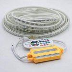 Ruban à LED RGB Multicolore, Strip Flexible Bande, 220V AC 5050 IP68 étanche, LED Strip Light avec changement de couleur 24 Touches (15m) de la marque DUVERT image 1 produit
