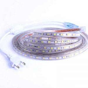 Ruban à LED, Ruban LED Etanche, Très Lumineux Bandeau Led 220v, 5050 IP65 Etanche Bande Strip Led, Blanc Froid (10m) de la marque DUVERT image 0 produit