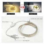 Ruban à LED, Ruban LED Etanche, Très Lumineux Bandeau Led 220v, 5050 IP65 Etanche Bande Strip Led, Blanc Froid (10m) de la marque DUVERT image 2 produit