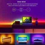 Ruban à LED USB pour HDTV, Minger 2M Magic Dream Couleur Bande Led Musique Flexible Rétroéclairage TV, 5050 RGB Etanche, Microphone Intégré et avez IC, Contrôler par APP, Bande Lumineuse Multicolore Décoration pour TV, Bureau, Miroir, Ordinateur, etc. de image 2 produit