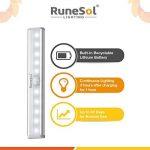 RuneSol® Lampes Détecteur de Mouvement rechargeables / 4 x 10 bandes LED lumineuses / Pack de 4 barres veilleuses super éclairantes/Bande LED sans fil Lumière d'armoire, Escalier, Placard tiroir de la marque RuneSol image 2 produit