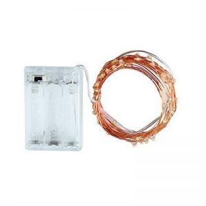Ryham coloré LED guirlande lumineuse de 5 mètres / 16.4 Ft 50 diodes à l'intérieur du fil de cuivre Micro pour les fêtes de Noël Party Decorating (blanc chaud) de la marque Ryham image 0 produit