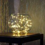 Ryham coloré LED guirlande lumineuse de 5 mètres / 16.4 Ft 50 diodes à l'intérieur du fil de cuivre Micro pour les fêtes de Noël Party Decorating (blanc chaud) de la marque Ryham image 3 produit