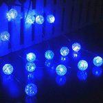 Ryham Décor Battery Operated boule de cristal de lumières LED 16 2.25M de 7.38ft Fée Globe Bubble éclairage pour Décorations intérieur extérieur Patio Party Rideau Chambre de Noël de saison, Bleu de la marque Ryham image 1 produit