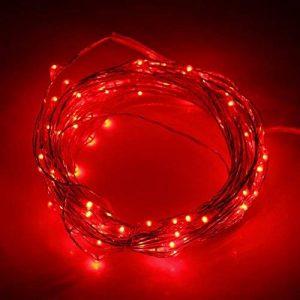 Ryham LED Guirlande lumineuse Lumière de Noël 50 LED 5M Lumières 16.4ft Outdoor Indoor Chaîne étanche Starry fil de cuivre, rouge de la marque Ryham image 0 produit