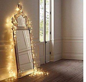 Salcar coloré LED Guirlande Lumineuse DE 10 mètres / 33 Ft 100 diodes à l'intérieur du Fil de cuivre Micro USB pour Les fêtes de Noël Party Decorating (Blanc Chaud) de la marque Salcar image 0 produit