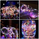 Salcar Coloré LED Guirlande Lumineuse Noël 10M / 33 Ft 100 Diodes à l'intérieur du Fil de Cuivre Micro, Chaine de Lampe Décorative pour Jardin Maison Fête Party Mariage Anniversaire (RGB) de la marque Salcar image 1 produit