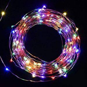 Salcar Coloré LED Guirlande Lumineuse Noël 10M / 33 Ft 100 Diodes à l'intérieur du Fil de Cuivre Micro, Chaine de Lampe Décorative pour Jardin Maison Fête Party Mariage Anniversaire (RGB) de la marque Salcar image 0 produit