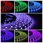Salcar Kit de Ruban à LED 10m RGB LED Strip avec 600 LEDs (SMD5050), 16 Couleurs au Choix, Télécommande IP 24 Touches Incluse, Contrôleur et Bloc d'Alimentation 12V 120W de la marque Salcar image 1 produit