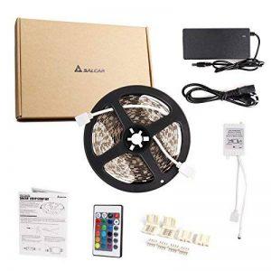 Salcar Kit de Ruban à LED 10m RGB LED Strip avec 600 LEDs (SMD5050), 16 Couleurs au Choix, Télécommande IP 24 Touches Incluse, Contrôleur et Bloc d'Alimentation 12V 120W de la marque Salcar image 0 produit