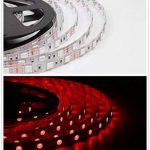 Salcar Ruban LED RVB avec 600 LED SMD5050 avec télécommande 16 couleurs 10 m + télécommande 24 boutons infrarouges et bloc d'alimentation 12 V 120 W de la marque Salcar image 2 produit