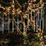 Samoleus Éclairage de Pluie de Météore 50cm 10 Tube 540 LEDs Meteor Douche Feux Lumières avec Plug EU pour la Décoration de Arbre de Noël Jardin (Blanc-50cm) de la marque Samoleus image 1 produit