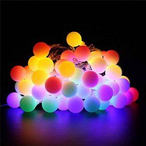 Samoleus Guirlande Lumineuse Boules 50 LED 8 Modes Lanterne Lumineuse avec Fonction de Mémoire Parfait pour Chambre Noël Arbre Sapin Jardin Mariage Terrasse Pelouse Décoration (Multicolore) de la marque Samoleus image 0 produit