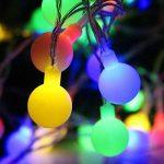 Samoleus Guirlande Lumineuse Boules 50 LED 8 Modes Lanterne Lumineuse avec Fonction de Mémoire Parfait pour Chambre Noël Arbre Sapin Jardin Mariage Terrasse Pelouse Décoration (Multicolore) de la marque Samoleus image 2 produit
