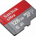 SanDisk - SDSQUAR-128G-GN6MA - Carte Mémoire MicroSDHC Ultra 128GB avec Vitesse de Lecture Allant jusqu'à 100MB/S, Classe 10 (FFP) (Nouvelle Version) de la marque SanDisk image 1 produit