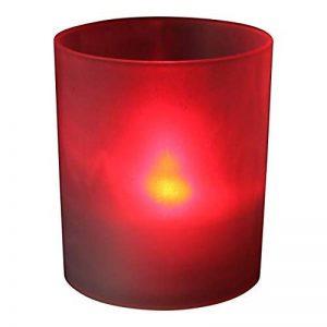 Sans flamme bougeoirs Lot de 6 bougies à piles d'éclairage d'intérieur les événements, décoration de la maison - LED Rouge par PK Vert de la marque PK Green image 0 produit