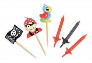 ScrapCooking 0354 Set DE 12 Bougies/Pirate Set de 3 Bougies Paraffine Multicolore 22 x 10 x 2 cm de la marque ScrapCooking image 0 produit