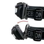 sebson Lampe Frontale LED, Batterie, 150lm, 3W, 4 Modes lumière Rouge, Lampe de Travail Jogging, randonnée, pêche Alpinisme de la marque sebson image 2 produit