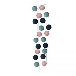 Sema 30327 Guirlande Electrique Boules Texture/Coton Bleu Canard/Bleu Pastel/Rose de la marque Sema image 0 produit