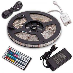 SENDIS Kit de Ruban à LED 5m / 60W, 300 LEDs multicolores 5050 RGB SMD Etanche + Adapteur + Alimentation + télécommande à infrarouge 44 touches de la marque SENDIS image 0 produit