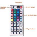 SENDIS Kit de Ruban à LED 5m / 60W, 300 LEDs multicolores 5050 RGB SMD Etanche + Adapteur + Alimentation + télécommande à infrarouge 44 touches de la marque SENDIS image 1 produit