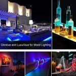 SENDIS Kit de Ruban à LED 5m / 60W, 300 LEDs multicolores 5050 RGB SMD Etanche + Adapteur + Alimentation + télécommande à infrarouge 44 touches de la marque SENDIS image 4 produit