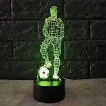 SeniorMar Lampe de Table 3D Tactile Tactile de Football 7 Couleurs changeantes Lampe de Bureau Lampe de Nuit alimentée par USB Lumière de Football LED pour Chambre de la marque SeniorMar image 1 produit
