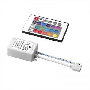 Sienoc Contrôleur Controller + 24 clés Télécommande IR pour 5050 3528 RGB LED Bande de la marque SIENOC image 0 produit