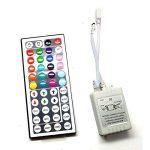 Sienoc Kit complet 5m RGB Multicolore Ruban lumineux 300LED bande Strip Stripe (RVB) Barre bande avec 300leds (SMD 3528) avec bloc d'alimentation et télécommande, 1 Satz RGB 12 volts de la marque SIENOC image 3 produit