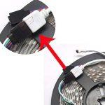 Sienoc Kit complet 5m RGB Multicolore Ruban lumineux 300LED bande Strip Stripe (RVB) Barre bande avec 300leds (SMD 3528) avec bloc d'alimentation et télécommande, 1 Satz RGB 12 volts de la marque SIENOC image 4 produit