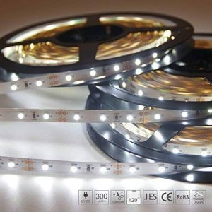 Signcomplex Bande LED flexible 3528 SMD Ruban LED avec ruban autocollant 3M 5m une bobine 12V DC (Blanc) de la marque Signcomplex image 0 produit