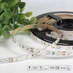 Signcomplex Bande LED flexible 3528 SMD Ruban LED avec ruban autocollant 3M 5m une bobine 12V DC (Blanc) de la marque Signcomplex image 3 produit