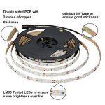 Signcomplex Bande LED flexible 3528 SMD Ruban LED avec ruban autocollant 3M 5m une bobine 12V DC (Bleu) de la marque Signcomplex image 2 produit